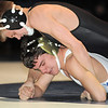 "Thompson Valley's Tanner Williams wrestles Broomfield's Michael Quinn in the 120 lb. weight class during Thursday's match at Broomfield.<br /> For more photos please see  <a href=""http://www.broomfieldenterprise.com"">http://www.broomfieldenterprise.com</a><br /> January 19, 2012<br /> staff photo/ David R. Jennings"