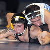 "Broomfield's Dylan Alvarez wrestles Thompson Valley's Aaron Trowbridge in the 113 lb. weight class during Thursday's match at Broomfield.<br /> For more photos please see  <a href=""http://www.broomfieldenterprise.com"">http://www.broomfieldenterprise.com</a><br /> January 19, 2012<br /> staff photo/ David R. Jennings"