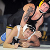 "Thompson Valley's Aaron Trowbridge wrestles Broomfield's Dylan Alvarez in the 113 lb. weight class during Thursday's match at Broomfield.<br /> For more photos please see  <a href=""http://www.broomfieldenterprise.com"">http://www.broomfieldenterprise.com</a><br /> January 19, 2012<br /> staff photo/ David R. Jennings"