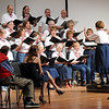 The Broomfield Civic Chorus sings during the ceremomies at the Sixth Annual Veteran's Day Obervance at Broomfield High School on Wednesday.<br /> <br /> November 11, 2009<br /> Staff photo/David R. Jennings