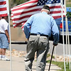 John Greaves, WWII Marine veteran, walks back to his car after the Broomfield Veterans Memorial Museum's Memorial Day Picnic on Monday at the Broomfield County Commons Park .<br /> May 31, 2010<br /> Staff photo/ David R. Jennings