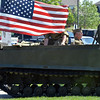 Lew Ladwig drives an Army wessle for display at the Broomfield Veterans Memorial Museum annual Memorial Day Picnic at the Broomfield County Commons.<br /> May 28, 2012 <br /> staff photo/ David R. Jennings