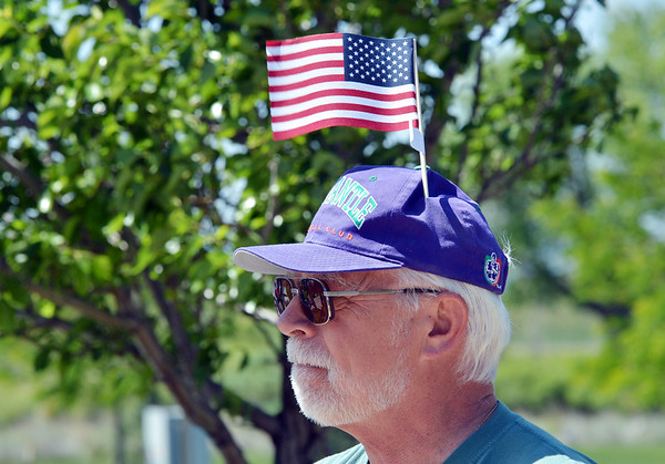 US Airforce veteran Paul Detefsen listens to the music during the Broomfield Veterans Memorial Museum annual Memorial Day Picnic at the Broomfield County Commons.<br /> May 28, 2012 <br /> staff photo/ David R. Jennings