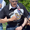 Paul Murphy, World War II USS Indianapolis survivor delivers the Pledge of Allegiance during the Broomfield Veterans Memorial Museum annual Memorial Day Picnic at the Broomfield County Commons.<br /> May 28, 2012 <br /> staff photo/ David R. Jennings