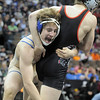 Connor King, Broomfield, moves in to take down Bryce Gaber, Montrose, during the 171lb State 4A Championship match at the Pepsi Center on Saturday.<br /> February 19, 2011<br /> staff photo/David R. Jennings