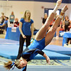 Broomfield's Melanie Stelling  performs her floor routine during the state individual gymnastics competition at Thornton High School on Saturday.<br /> <br /> November 3, 2012<br /> staff photo/ David R. Jennings