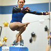 Broomfield's Gabby Maiden delivers her performance on the floor during the state individual gymnastics competition at Thornton High School on Saturday.<br /> <br /> November 3, 2012<br /> staff photo/ David R. Jennings