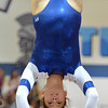 Broomfield's Moniquie Martinez  performs on the vault during the state individual gymnastics competition at Thornton High School on Saturday.<br /> <br /> November 3, 2012<br /> staff photo/ David R. Jennings