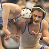 Broomfield's Drew Romero wrestles Valor Christian's Austin Veen in the 113 pound 4A region 3 match at Mullen High School on Saturday.<br /> February 16, 2013<br /> staff photo/ David R. Jennings