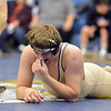 Broomfield's Connor Eakes pauses after loosing to Pueblo Central's Evan Lancelot in the 195 pound 4A region 3 match at Mullen High School on Saturday.<br /> February 16, 2013<br /> staff photo/ David R. Jennings