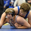 Broomfield's Connor Eakes wrestles Pueblo Central's Evan Lancelot in the 195 pound 4A region 3 match at Mullen High School on Saturday.<br /> February 16, 2013<br /> staff photo/ David R. Jennings