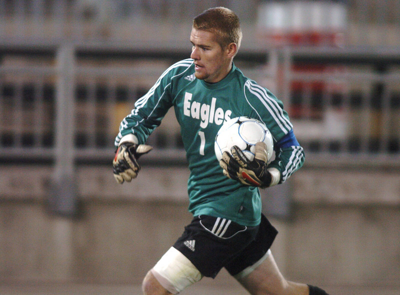 Broomfield's goalie Brendan Buchanan carries the ball to put it into play against Air Academy during Wednesday's state 4A championship game at Dick's Sporting Goods Park in Commerce City.<br /> November 10, 2010<br /> staff photo/David R. Jennings