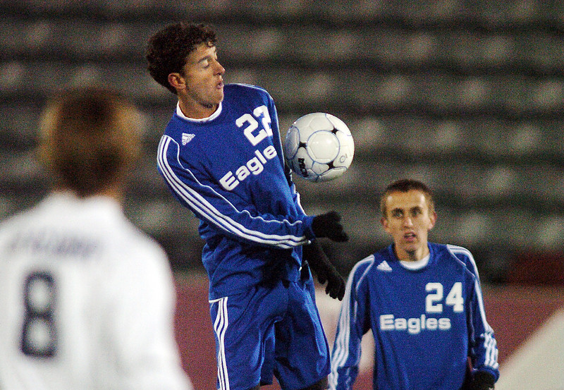 Colton Lamb,  Broomfield moves the ball down field against Air Academy during Wednesday's state 4A championship game at Dick's Sporting Goods Park in Commerce City.<br /> November 10, 2010<br /> staff photo/David R. Jennings