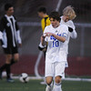 Broomfield's Landon Roos celebrates after scoring a goal against Harrison during the game on Tuesday at Elizabeth Kennedy Stadium.<br /> <br /> October 27, 2009<br /> Staff photo/David R. Jennings