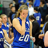 Broomfield's Meagan Prins cries after the Eagles lost to  Air Academy in Saturday's girls 4A state great eight playoff game at the Colorado School of Mines.<br /> March 2, 2012 <br /> staff photo/ David R. Jennings