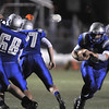 Broomfield's quarterback Angelo Perez runs the ball downfield against Cheyenne Mountain during Friday's first round state 4A playoff game at Elizabeth Kennedy Stadium.<br /> <br /> November 11, 2011<br /> staff photo/ David R. Jennings