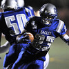 Broomfield's Jose Faire runs the ball against Cheyenne Mountain during Friday's first round state 4A playoff game at elizabeth Kennedy Stadium.<br /> <br /> November 11, 2011<br /> staff photo/ David R. Jennings