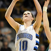 Broomfield's Autumn Chase goes to the basket against Conifer during the Final Four game at the Coors Event Center in Boulder on Wednesday <br /> <br /> March 10, 2010<br /> Staff photo/David R. Jennings