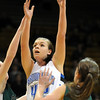 Broomfield's Renae Waters goes to the basket past Conifer's Cara Walderman during the Final Four game at the Coors Event Center in Boulder on Wednesday <br /> <br /> March 10, 2010<br /> Staff photo/David R. Jennings