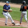 Broomfield first baseman Erik Lockwood tags out Jordan Tellez, Greeley Central during Saturday's game at Broomfield.<br /> May 8, 2010<br /> Staff photo/ David R. Jennings