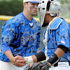 Broomfield's pitcher Brandon Bailey, left, shakes hands with catcher Ben Martinez after defeating Green Mountain in Saturday's 4A District game at Broomfield.<br /> <br /> May 12, 2012 <br /> staff photo/ David R. Jennings