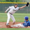 Broomfield's Jackson Lockwod slides safely to second base beating the ball thrown to Green Mountain's Jake Garegnani during Saturday's 4A District game at Broomfield.<br /> <br /> May 12, 2012 <br /> staff photo/ David R. Jennings