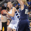 Broomfield's Stacie Hull, goes to the basket against Legacy's Caitlyn Smith during Saturday's cross town girls game at the 1stBank Center.<br /> January 8, 2011<br /> staff photo/David R. Jennings