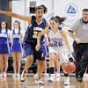 Brittney Zec, Broomfield drives the ball down court past Sade Akindele, Legacy during Saturday's cross town girls game at the 1stBank Center.<br /> January 8, 2011<br /> staff photo/David R. Jennings