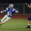 Broomfield's Riley Derus returns a kick off from Littleton during Friday's Homecoming game at Elizabeth Kennedy Stadium..<br /> September 20, 2012<br /> staff photo/ David R. Jennings