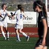 Broomfield's Katie Forsee, left, celebrates the goal by Kristin Snyder against Mountain View during Friday's game at Elizabeth Kennedy Stadium.<br /> March 23, 2012 <br /> staff photo/ David R. Jennings