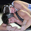 "Broomfield's Austyn Harris wrestles Mountain View's Thomas Watkins in the 195 lb. weight class during Thursday's match at Broomfield.<br /> For more photos please see  <a href=""http://www.broomfieldenterprise.com"">http://www.broomfieldenterprise.com</a>.<br /> January 12, 2012<br /> staff photo/ David R. Jennings"