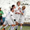 Clay Fiscus, Broomfield, celebrates his goal against Mullen, during the state 4A semi final game at Englewood High School.<br /> <br /> November 5, 2011<br /> staff photo/ David R. Jennings