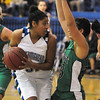 Tyana Medema, Broomfield, prepares to go around Rachel Haisfield, Niwot ,during Friday's game at Broomfield.<br /> <br /> <br /> January 29, 2010<br /> Staff photo/David R. Jennings