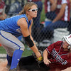 Katie Knudson, third base Broomfield, tags out a Tuttle player during Friday's game against Tuttle, Oklahoma at the Erie Festival of Champions softball tournament.<br /> <br /> <br /> September 2, 2011<br /> staff photo/ David R. Jennings