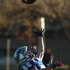Broomfield's Zach Gorman reaches for the ball in an attempt to intercept a pass to Valor Christian during the semi final game on Saturday at Elizabeth Kennedy Stadium.<br /> November 27, 2010<br /> staff photo/David R. Jennings