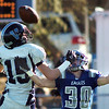 Broomfield's Lee Cannon breaks up a pass intended for Valor Christian's Stephen Miller during the semi final game on Saturday at Elizabeth Kennedy Stadium.<br /> November 27, 2010<br /> staff photo/David R. Jennings