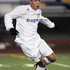 Ricardo Ocampo, Broomfield dribbles the ball downfield against Wheat Ridge during the 4A soccer quarter finals at Elizabeth Kennedy Stadium on Tuesday.<br /> November 1, 2011<br /> staff photo/ David R. Jennings
