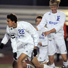 Broomfield's Colton Lamb celebrates his goal against Wheat Ridge with Tim Ayers during the 4A soccer quarter finals at Elizabeth Kennedy Stadium on Tuesday.<br /> November 1, 2011<br /> staff photo/ David R. Jennings
