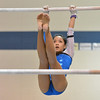 Broomfield's Maggie Boyer performs on the uneven parallel bars in the state 5A gymnastics competition at Thornton High School on Friday.<br /> <br /> November 2, 2012<br /> staff photo/ David R. Jennings