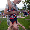 Blake Sevier plays with his daughter Vivian, 3, during the Great American Picnic at the Broomfield County Commons Park on Monday.<br /> <br /> July 4, 2011<br /> staff photo/ David R. Jennings