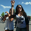 Maddie Rivas, 17, left, and Kelly Spencer, 17, dance  during Broomstock 2012 at the Broomfield County Commons on Thursday.<br /> <br /> May 24, 2012 <br /> staff photo/ David R. Jennings