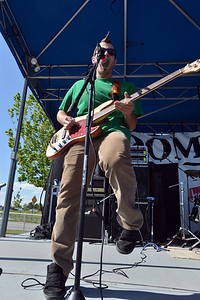 Andrew Newman plays the guitar for Taking Canyon during Broomstock 2012 at the Broomfield County Commons on Thursday.  May 24, 2012  staff photo/ David R. Jennings