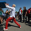 Carter James, 23, dances to the music of  Broomstock 2012 at the Broomfield County Commons on Thursday.<br /> <br /> May 24, 2012 <br /> staff photo/ David R. Jennings