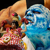 Brazil Carnival.JPEG-0674e.JPG A performer from the Grande Rio samba school parades during carnival celebrations at the Sambadrome in Rio de Janeiro, Brazil, Tuesday, Feb.21, 2012.  Nearly 100,000 paying spectators turn out for the all-night spectacle at the Sambadrome. (AP Photo/Felipe Dana)