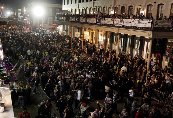 Mardi Gras Galveston.JPEG-0.JPG A large crowd fills The Strand after the Knights of Momus Grand Night Parade at Mardi Gras in Galveston on Saturday night Feb. 18, 2012. (AP Photo/The Galveston County Daily News, Kevin M. Cox) MANDATORY CREDIT; NO SALES; TV OUT