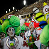 Brazil Carnival.JPEG-07e08.JPG Performers from the Grande Rio samba school parade during carnival celebrations at the Sambadrome in Rio de Janeiro, Brazil, Tuesday, Feb.21, 2012.  Nearly 100,000 paying spectators turn out for the all-night spectacle at the Sambadrome. (AP Photo/Felipe Dana)