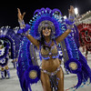 Brazil Carnival.JPEG-0de37.JPG Performers from the Grande Rio samba school parade during carnival celebrations at the Sambadrome in Rio de Janeiro, Brazil, Tuesday, Feb.21, 2012. Nearly 100,000 paying spectators turn out for the all-night spectacle at the Sambadrome. (AP Photo/Felipe Dana)