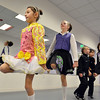 Mateja Gasiewski, 9, left, dances with Brooke Maritin, 9, at the Celtic Steps  dance studio on Thursday in Superior.<br /> January 4, 2013<br /> staff photo/ David R. Jennings