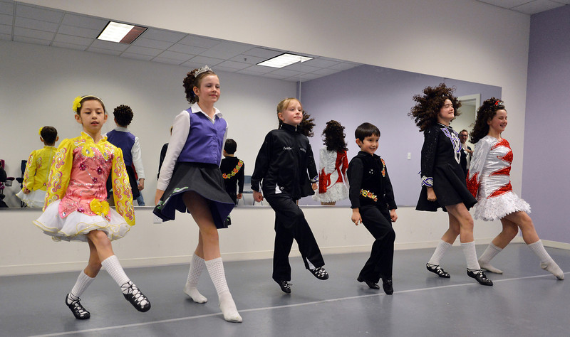 Irish dancers perform at the Celtic Steps  dance studio on Thursday in Superior.<br /> January 4, 2013<br /> staff photo/ David R. Jennings