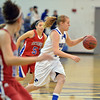Broomfield's Callie Kaiser dribbles the ball  against Centaurus during Tuesday's game at Broomfield.<br /> February 19, 2013<br /> staff photo/ David R. Jennings